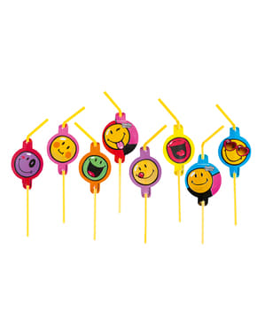 8 Smiley Express Yourself Straws