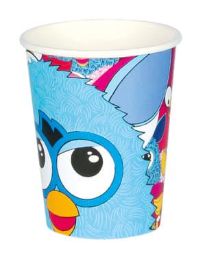 Set 8 bekertjes van Furby