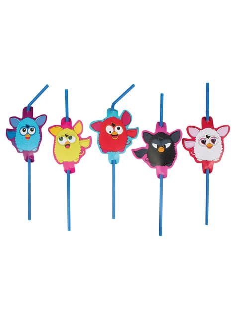 Set de 8 pajitas de Furby