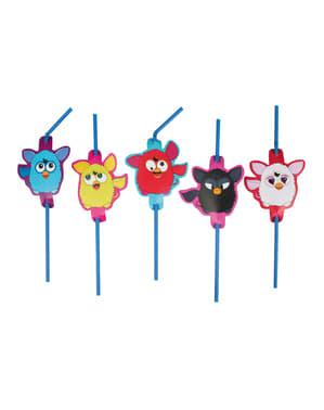 8 pajitas de Furby