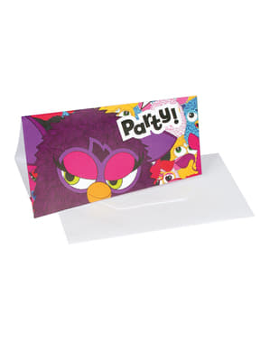 6 invitaciones de Furby
