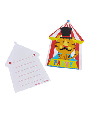 8 invitaciones de Fisher Price Circus