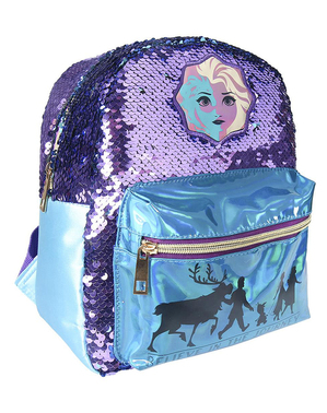 Batoh s flitry pro dívky Ledové království 2 stříbrný - Disney