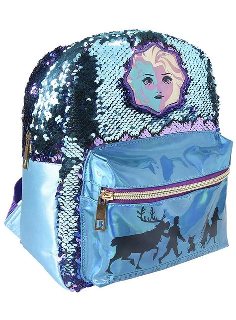 Frost 2 ryggsekk med paljetter til jenter - Disney - offisiell