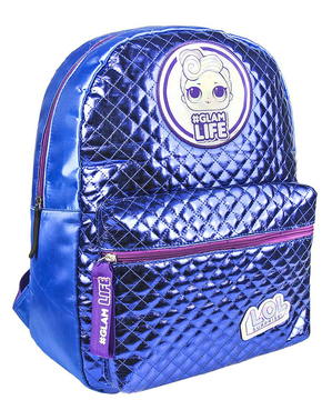 LOL Surprise backpack for girls in silver
