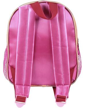 Детска розова раница с Мини Маус с помпон– Дисни