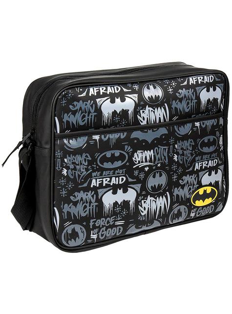 Batman schoudertas in zwart en wit - DC Comics