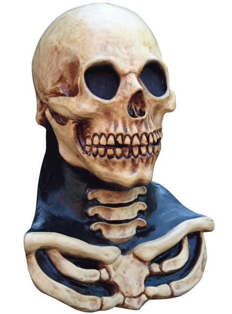 Halloweenská maska kostlivec s dlouhým krkem