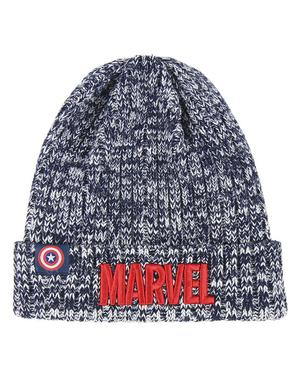 Szara czapka Marvel dla mężczyzn