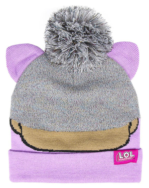 Bonnet LOL Surprise avec pompon fille