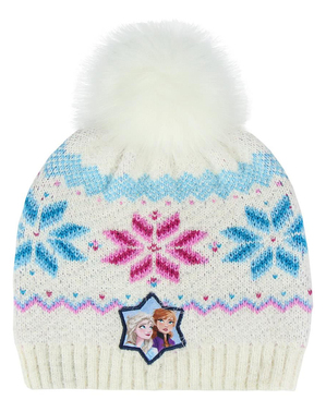 """Бяла детска шапка със """"Замръзналото кралство 2""""– Дисни"""