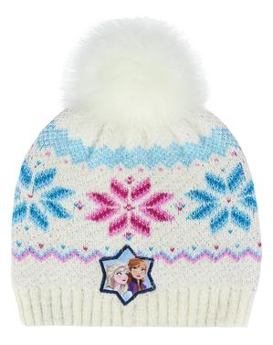 כובע 2 קפוא לנערות בלבן - דיסני