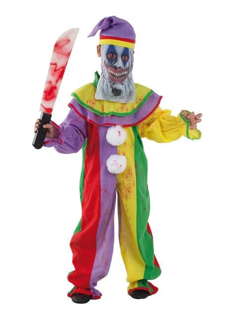 Fato de palhaço psicopata infantil