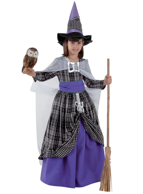 Disfraz de bruja elegante para niña