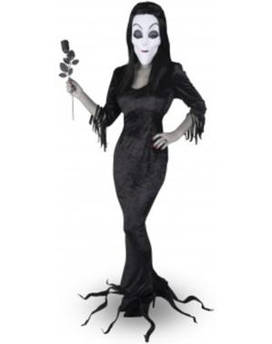 Kostým Morticia Rodina Addamsovcov pre ženy