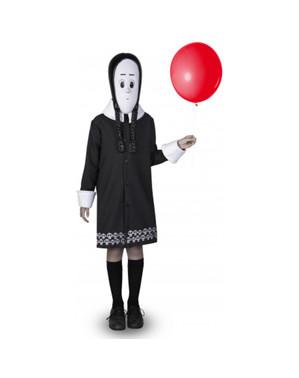 Addams Family Keskiviikko -asu tytöille