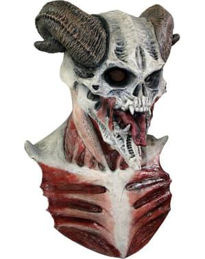 Halloweenská maska ďábelská lebka