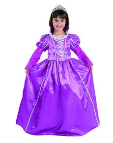 Disfraz de princesa morada para niña