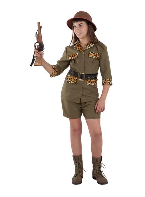 Disfraz de cazadora de safari para niña