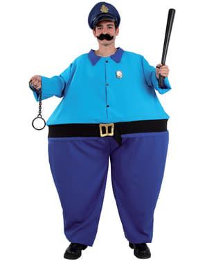 Feit Politi Sjef Kostyme Mann