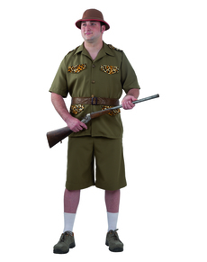 Disfraz de cazador de safari para hombre