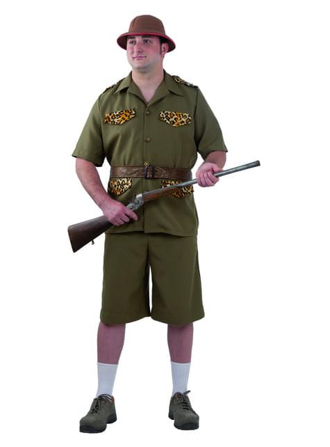 Fato de caçador de safari para homem