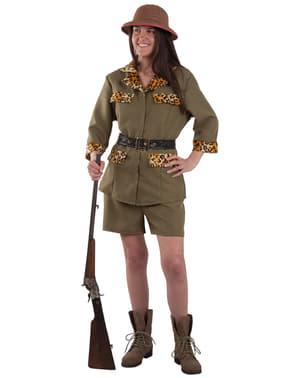 Dámský kostým lovkyně na safari