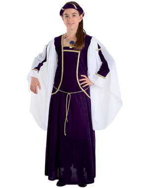 Mittelalterliches Königin Kostüm für Mädchen