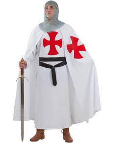 Disfraz de templario medieval para hombre