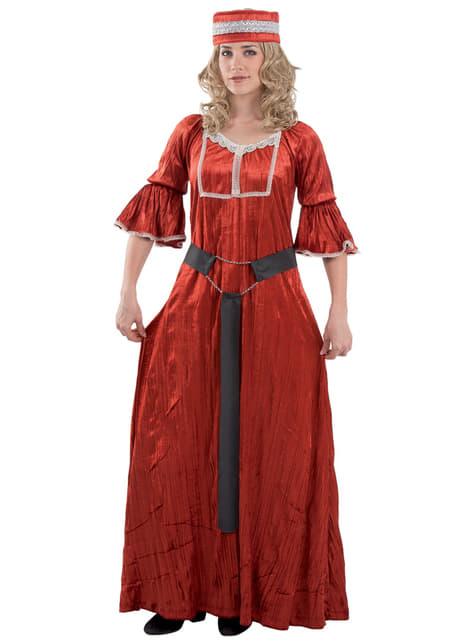 Fato de donzela medieval para mulher