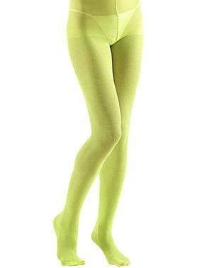 Medias verdes lima con purpurina para mujer