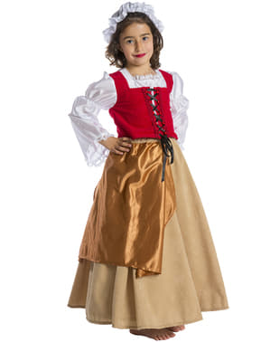 Medieval Peasant Girl Kids Costume