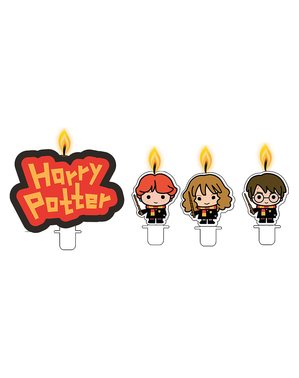 4 formede Harry Potter stearinlys - Lumos Collection