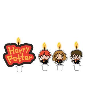 4 świeczki Harry Potter - Lumos Collection