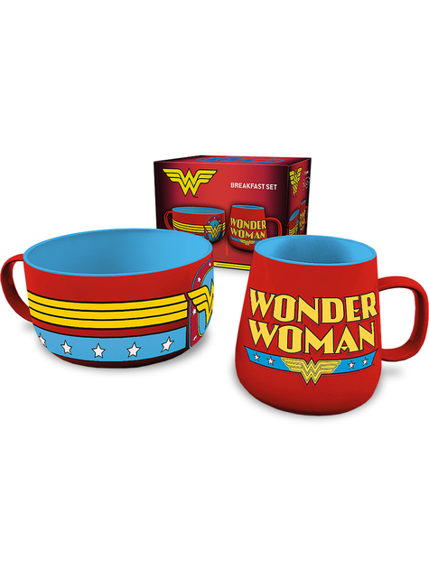 Set de taza y cuenco Wonder Woman