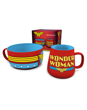 Wonder Woman mug and bowl set