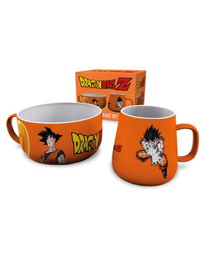 Conjunto de caneca e tigela Goku - Dragon Ball