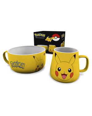 Conjunto de caneca e tigela Pikachu - Pokemon