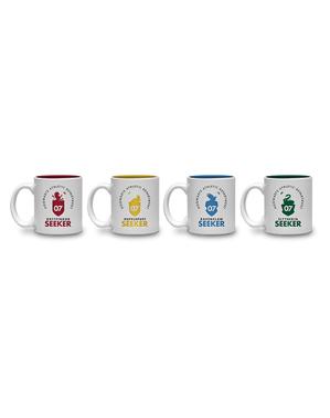 """Комплект 4 мини чаши с домовете от """"Хари Потър"""""""