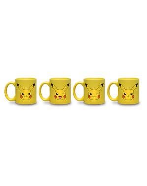 Conjunto de 4 mini-canecas Pikachu - Pokemon