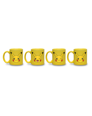 Set de 4 minitazas Pikachu - Pokemon