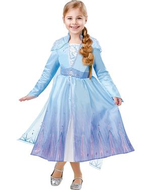 Costum Printesa Elsa deluxe pentru fată – Regatul de gheață 2 (Frozen)