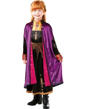 Anna Заморожений розкішний костюм для дівчаток - Заморожені 2