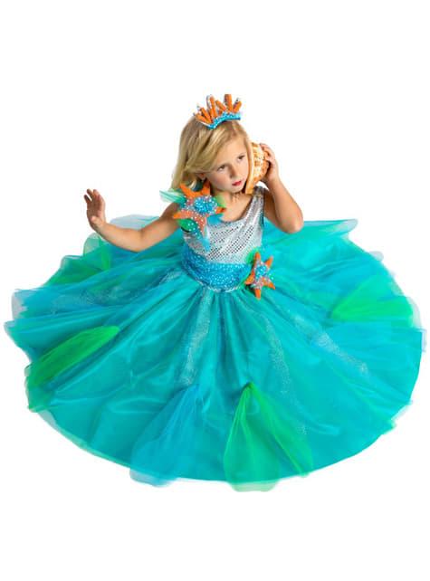 Disfraz de princesa de los mares para niña - niña
