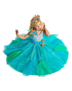 Disfraz de princesa de los mares para niña