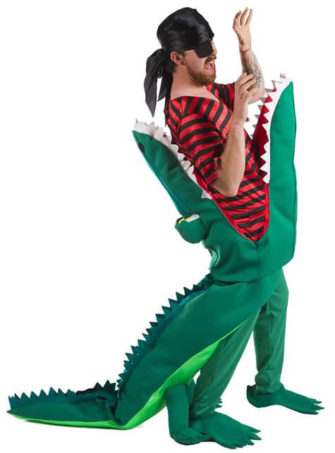 Disfraz de cocodrilo devorador de piratas para adulto