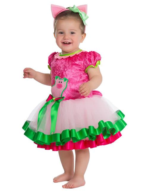 Disfraz de cerdita elegante para bebé