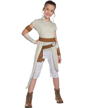 Fato de Rey Star Wars Episódio 9 classic para menina