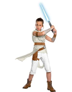 Fato de Rey Star Wars Episódio 9 premium para menina