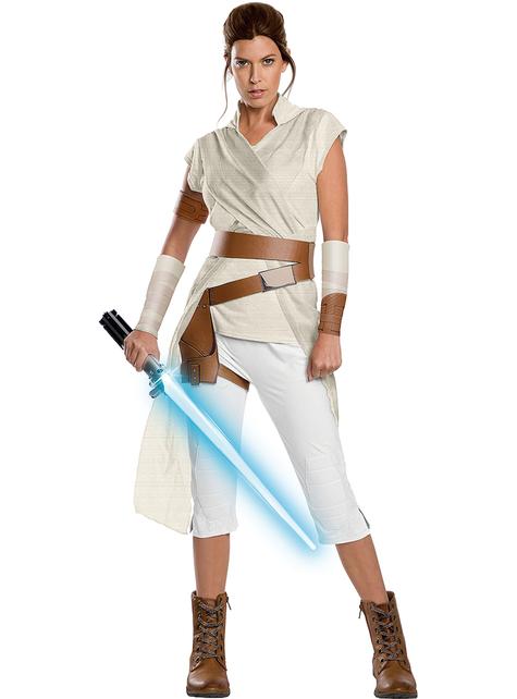 Rey Star Wars Episode 9 premium kostuum voor dames
